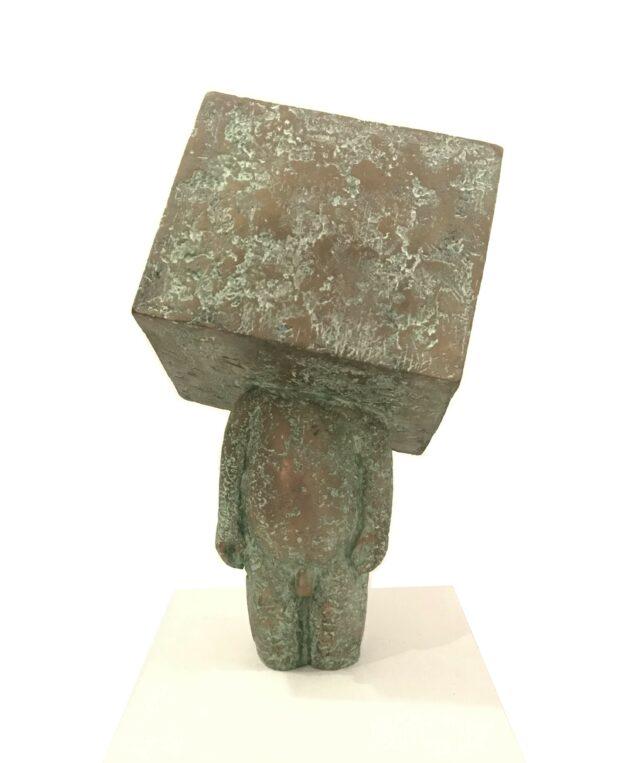 Box Boy bronze sculpture by Samuel Allerton